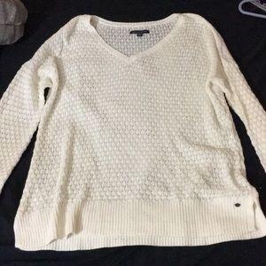 Cream American eagle sweater